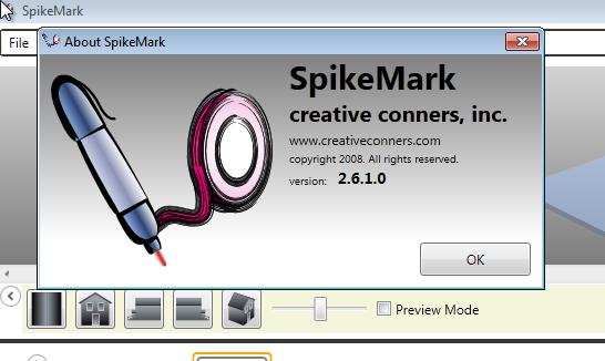 Spikemark About Screen