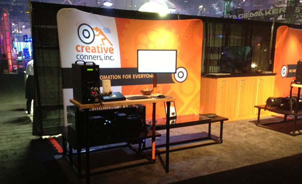 Creative Conners at LDI 2012 - Pushstick theater winch stand and cueing station