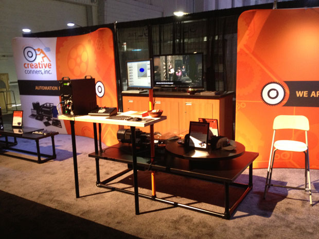 Creative Conners at LDI 2012 - Revolver turntable machine stand