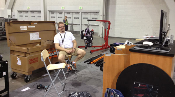 Creative Conners at LDI 2012 - Waiting for our drayage