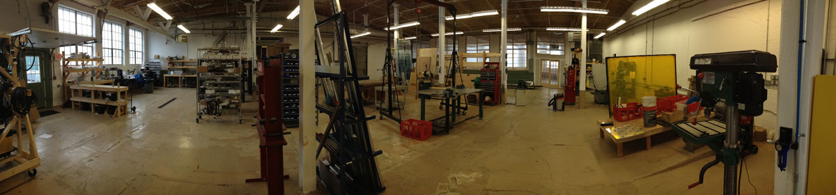 The Creative Conners fabrication area