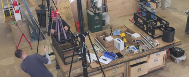 Screen capture of the YouTube video of the Pushstick Assembly video