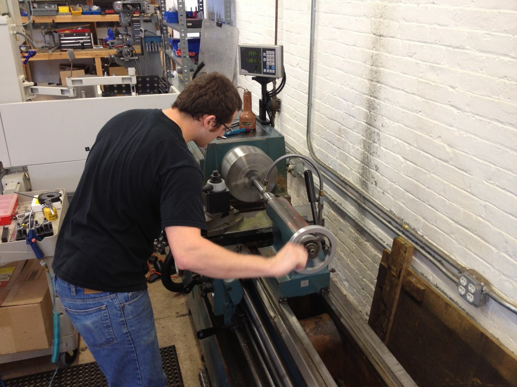 Jon on the lathe