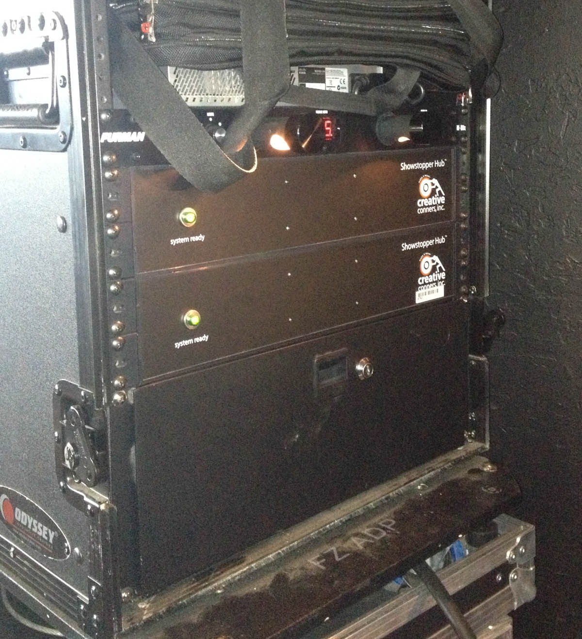 Creative Conners gear backstage at The Eagles tour