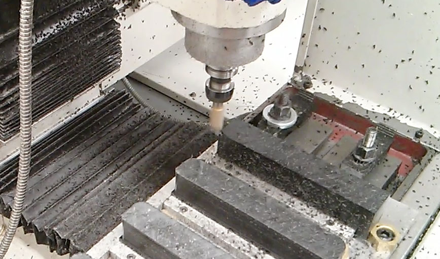 Milling multiple deck dogs on our CNC mill